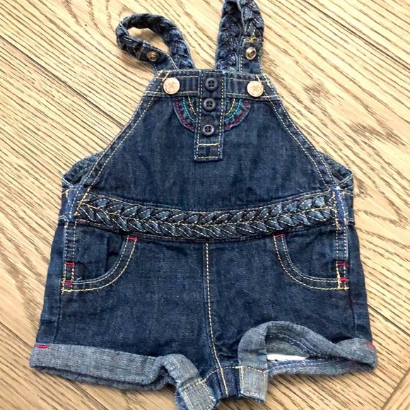 Oshkosh bigosh 3 months girls overall jeans